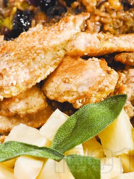 Панирани пилешки флейки - снимка на рецептата